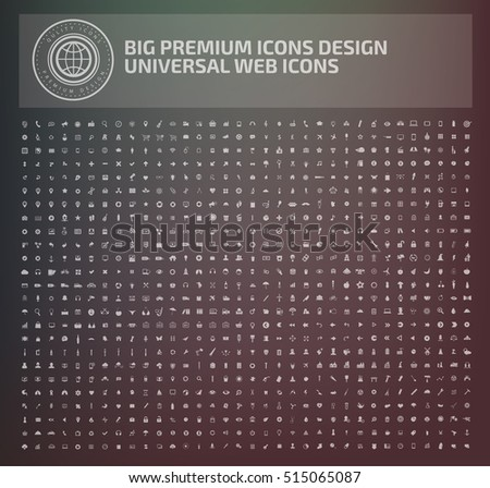 Big icon set,vector