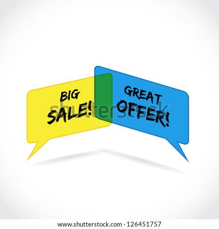 big sale and great offer ad bubbles