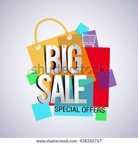 Big Sale Discount Vector Design Banner Stock Vector 438260056 ...
