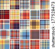 Big set of seamless tartan patterns - stock vector