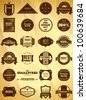 Big set of vintage Premium Quality labels - stock vector