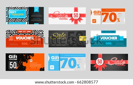 Gift Discount Voucher Template Modern Design Stock Vector