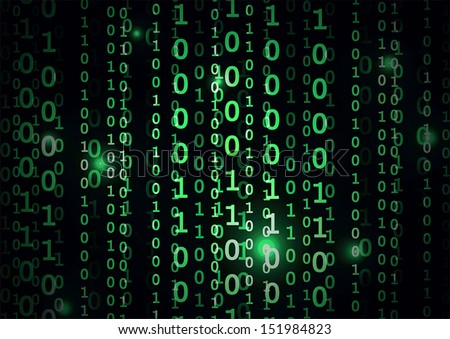 Binary code in abstract background, VECTOR, EPS10