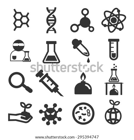 biological icon set