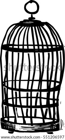Bird cage vector illustration