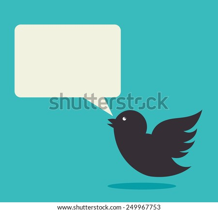 Bird design over blue background, vector illustration.