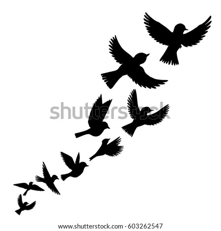 Silhouette Tree Grass Hand Drawn Vector Stock Vector ...