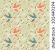 bird seamless pattern - stock vector