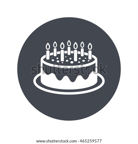 Birthday Cake Colorful Balloon Flat Vector Stock Vector 615349658