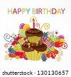 birthday card design - stock vector