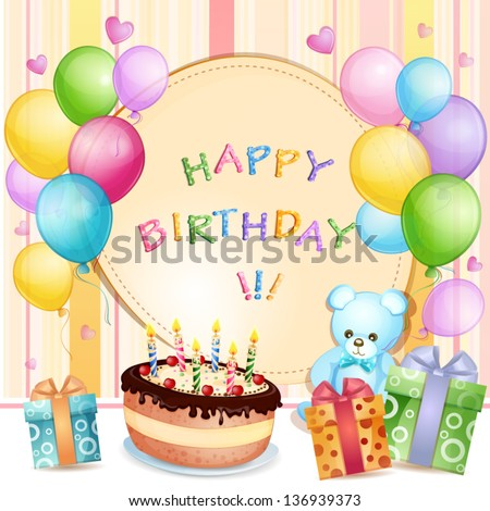 Happy Birthday Vertical Cards Stock Vector 124587364 ...