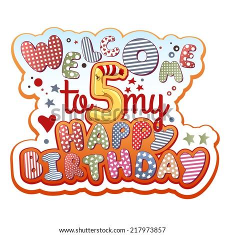 Birthday Invitation Card Years Old Stock Vector - Birthday invitation card for 7 years old boy