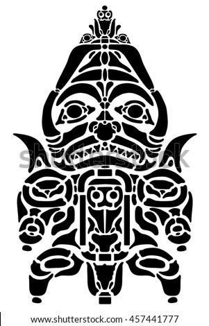 stylised fearsome samurai mask helmet stock vector 534199045 shutterstock. Black Bedroom Furniture Sets. Home Design Ideas