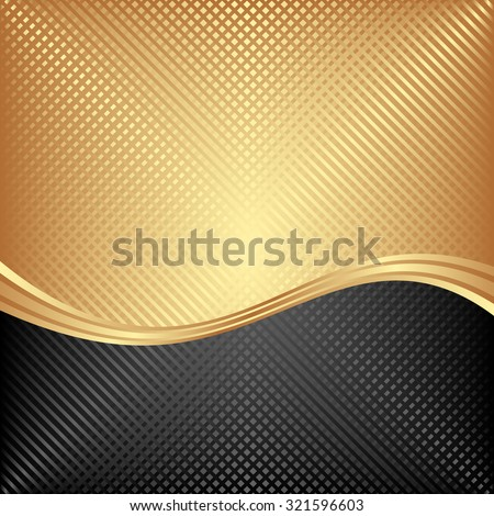 black and golden background divided into two