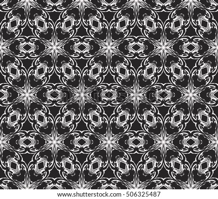 black and white color. Abstract floral seamless pattern. geometry design. Vector. Texture for holiday cards, Valentines day, wedding invitations, design wallpaper, pattern fills, web page, banner