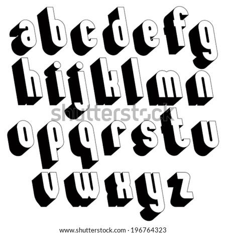 3d Font Stock Vector 169043330 - Shutterstock