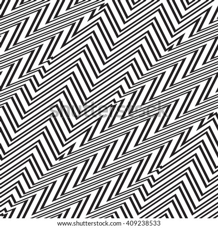 Black and white geometric seamless pattern. Vector illustration