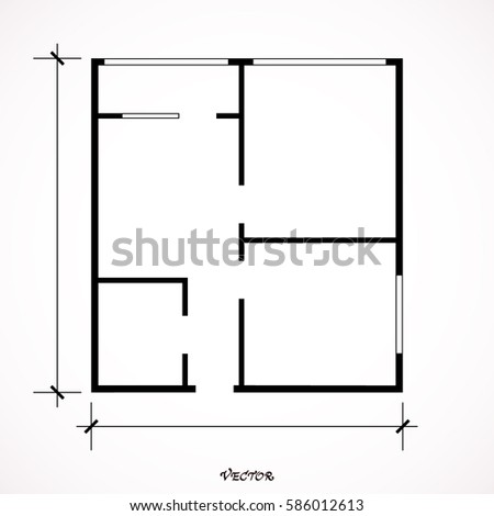 House plan icon floor plan vector vectores en stock 586377626 black and white house apartment plan house home building architecture blueprint icon vector illustration malvernweather Images