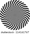 Black and white hypnotic background. vector illustration - stock photo