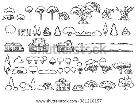 Camping Wilderness Set Pictogram Icons Presenting Stock