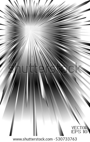 Black and White Pattern with Radial Stripes. Abstract Explosion. Graphic Element for Your Design. Vector. 3D Illustration