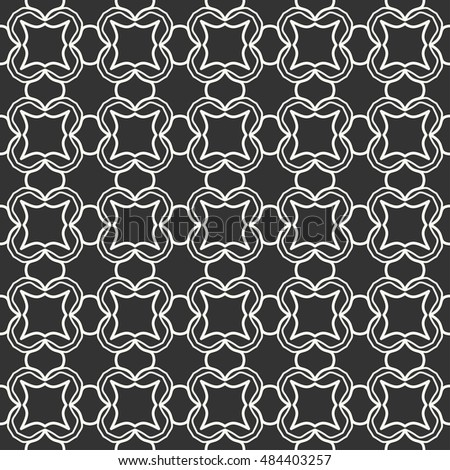 Black and white Seamless geometric pattern, repeating texture. Seamless line background. Contemporary graphic design, ethnic arabic, indian, turkish monochrome ornament.