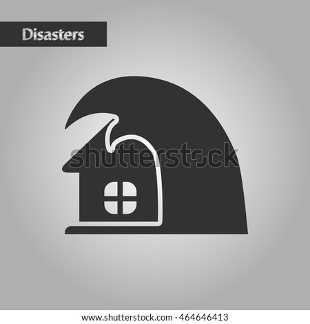 Black White Style Tsunami House Stock Vector 465536213 ...