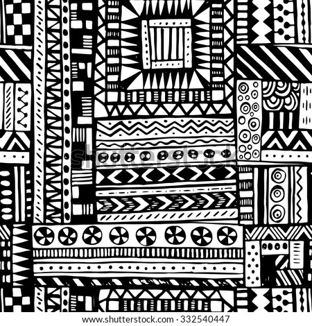 Seamless Tribal Texture Stock Vector 156463841 - Shutterstock