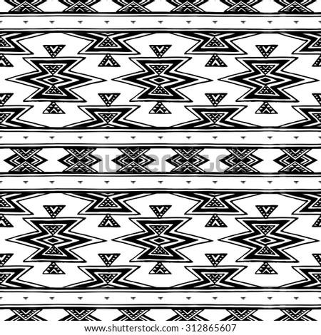 navajo aztec big pattern vector illustration stock vector