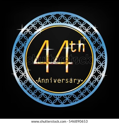 Brown background silver circle 4th anniversary stock vector 549486478 shutterstock - Th anniversary symbol ...