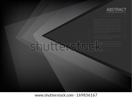 Black background vector overlap dimension on white background square line for text and message design