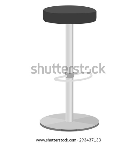 Black Bar Stool Vector Illustration Bar Vector 293437133 – Bar High Chair