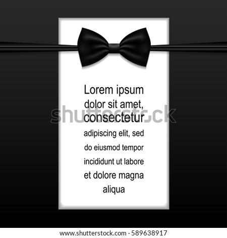 elegant vector black tie event invitation stock vector 280640894 shutterstock. Black Bedroom Furniture Sets. Home Design Ideas