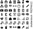 black business icons isolated on white background. vector - stock vector