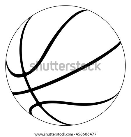 Basketball ball drawing