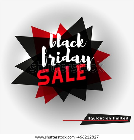 Black Friday Sale Tag Template Abstract Stock Vector 466212797