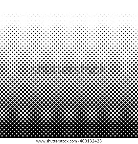 Black halftone pattern. Vector illustration