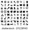 Black Icons - stock vector