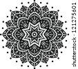 Black Indian ornament mandala - stock vector