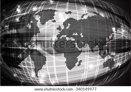 Future technology black world map cyber vectores en stock 493431982 black light abstract technology background for computer graphic website internet and business circuit vector gumiabroncs Gallery