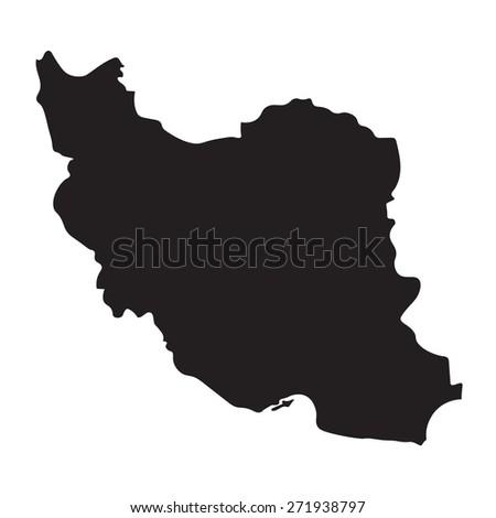 Blue Map Iran Stock Vector Shutterstock - Map of iran