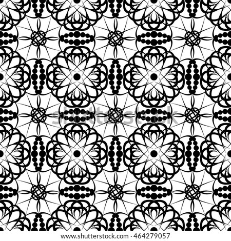 black ornament lace on a white background