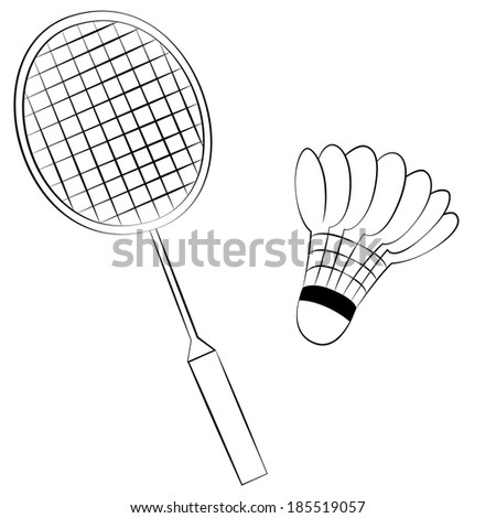 how to draw a squash racket step by step