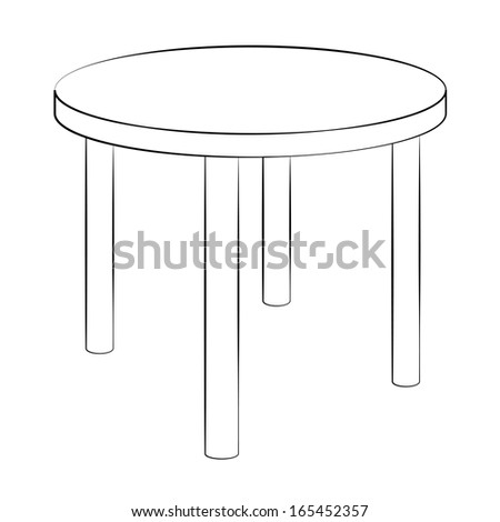 Black outline vector chair on white background.