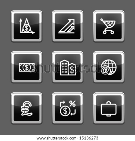 Black screen web icons, set 23