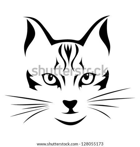 Black Silhouette Of Cat Vector Illustration Stock Vector