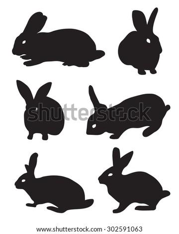 show rabbit silhouette