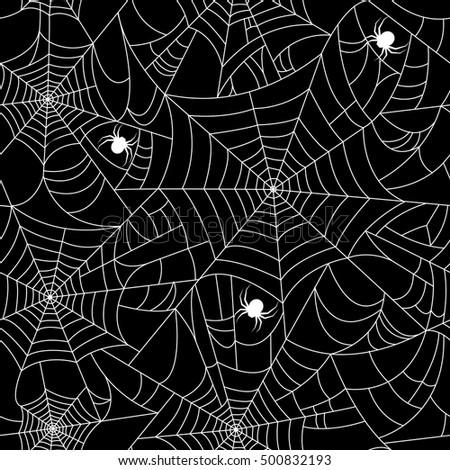 Spiders Web Black White Vector Pattern Stock Vector 116171443 ...