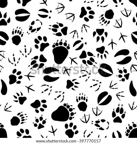 Animal foot prints patterns - photo#2