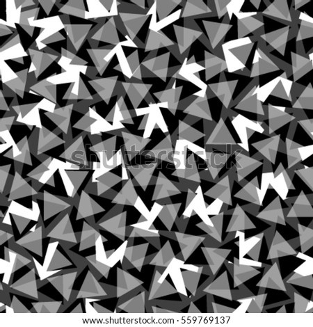 black white triangles seamless pattern